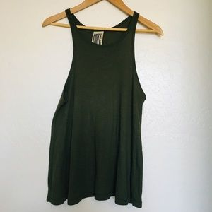 Free People Medium Racerback Green Swing Tank